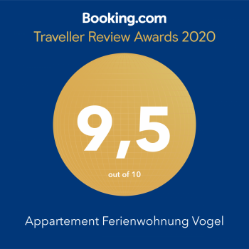 Mit 9,5 von 10 Punkten wurden wir durchschnittlich von Booking.com Kunden bewertet